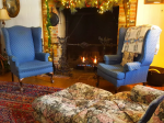 Relax by a cozy fireplace at Battlefield Bed & Breakfast