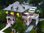 Aerial view of beautiful Olde Square Inn Mount Joy PA, Lancaster County