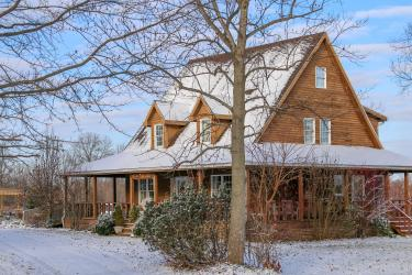Cedar Farm Exterior in Winter