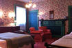 Rose Room with antique wall- and ceiling-paper!